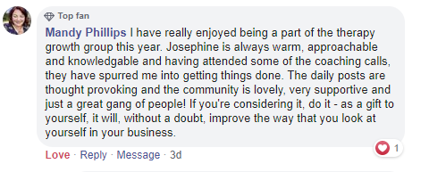 Therapy Growth Group testimonial